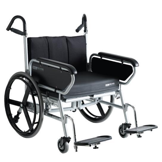 Bariatric Folding Wheelchair Bariatrisk kørestol Minimaxx Foldbar