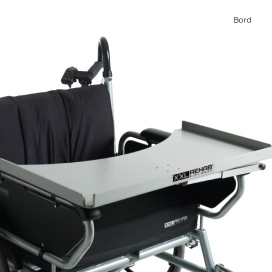 bariatrisk rullstol minimaxx hopfällbar bord