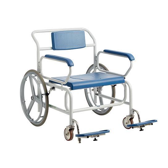 Bariatrisk badetoiletstol med drivhjul