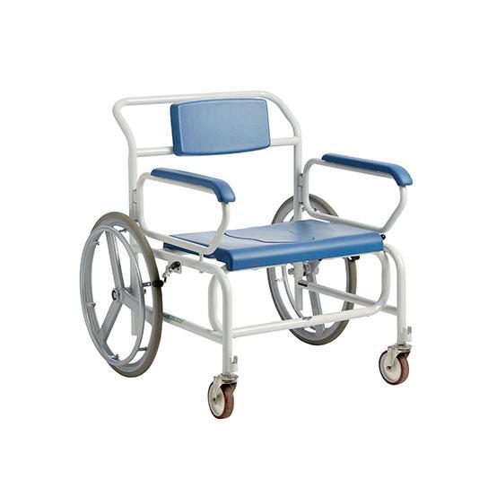 Bariatrisk badetoiletstol dusch-och toalettstol med drivhjul