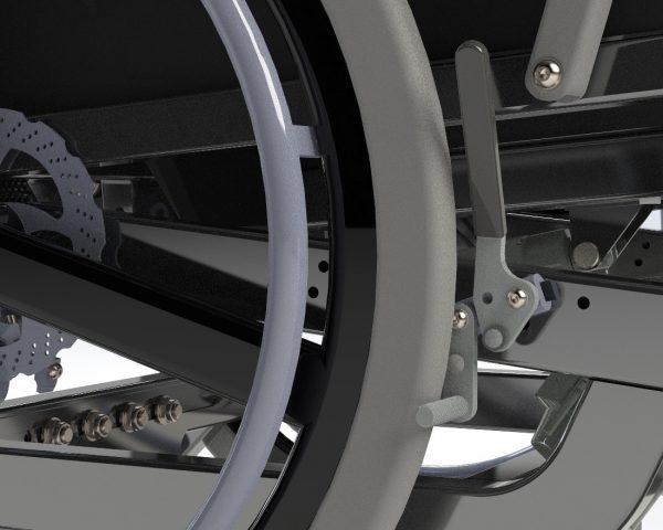 Bariatrisk komfort kørestol Cobi Cruise med manuelle bremser