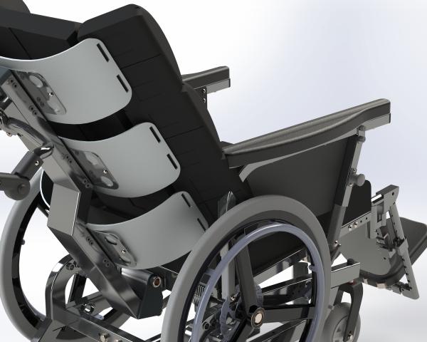 Bariatrisk komfort kørestol Cobi Cruise - rygmodul og drivhjul